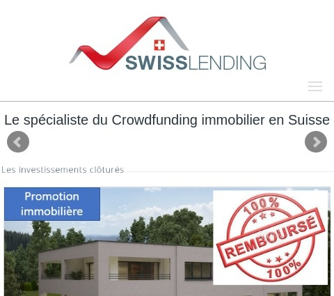 SwissLending screenshot