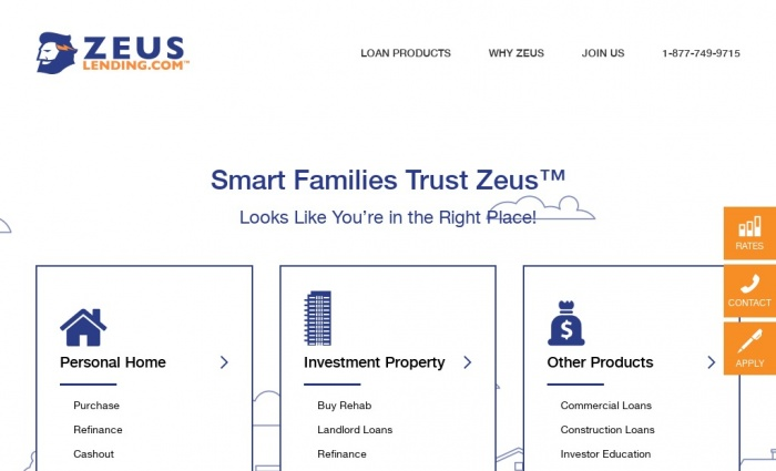 Zeus Crowdfunding screenshot